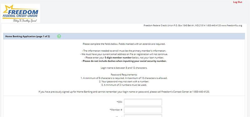 Online (Home) Banking Registration