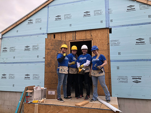 Freedom staff at a Habitat for Humanity building project in Havre de Grace, fall, 2017