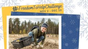 #FreedomTohelpchallenge - homepage image